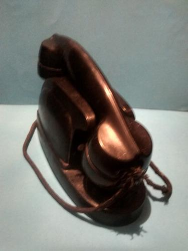 vintage télefono baquelita ericsson negro sumamente raro