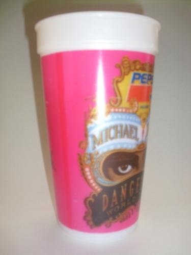 vintage vaso michael jackson dangerous world tour pepsi