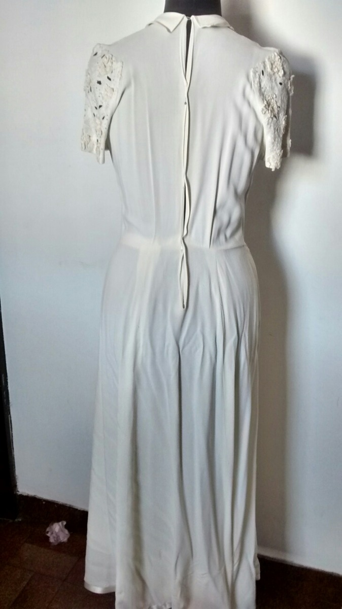 Vintage Vestido De Novia Antiguo A Reciclar - $ 1.000,00 en Mercado ...