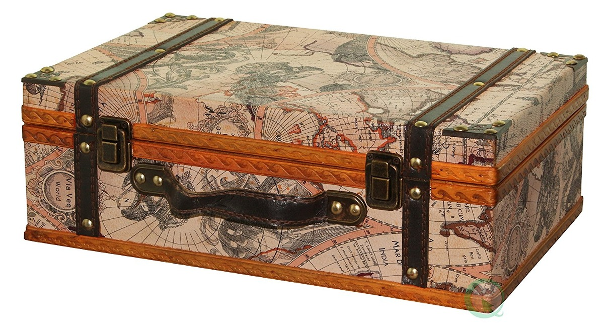 Vintiquewisetm old world map suitcasedecorative box 147700 world map suitcasedecorative box cargando zoom gumiabroncs Image collections
