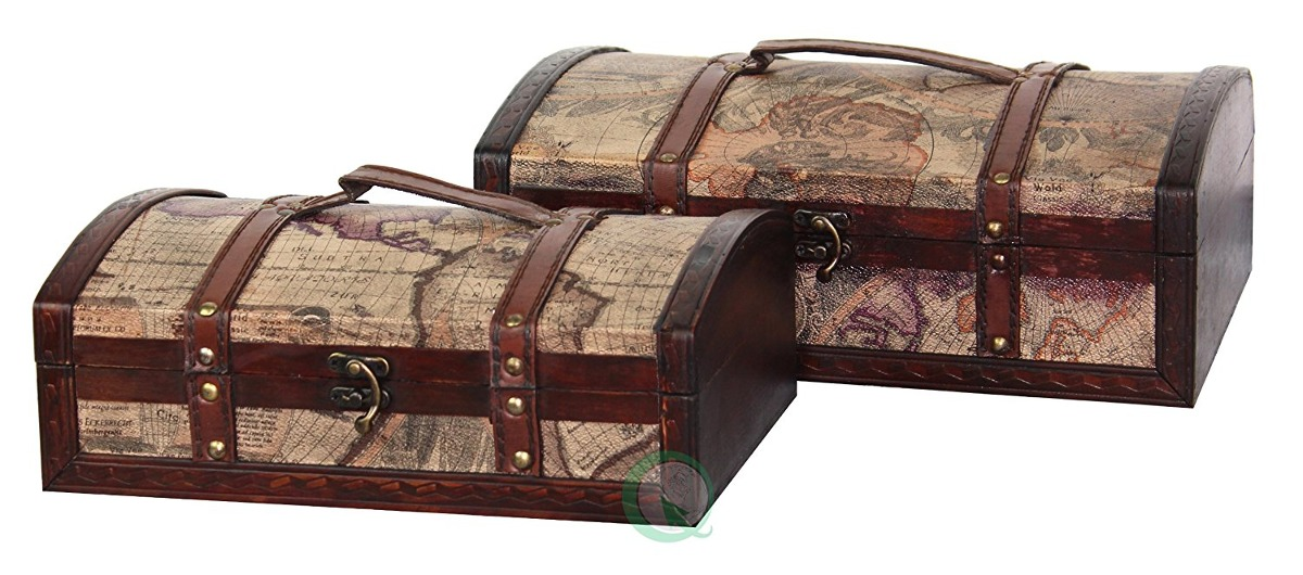 Vintiquewisetm old world map treasure chestdecorative box world map treasure chestdecorative box cargando zoom gumiabroncs Image collections