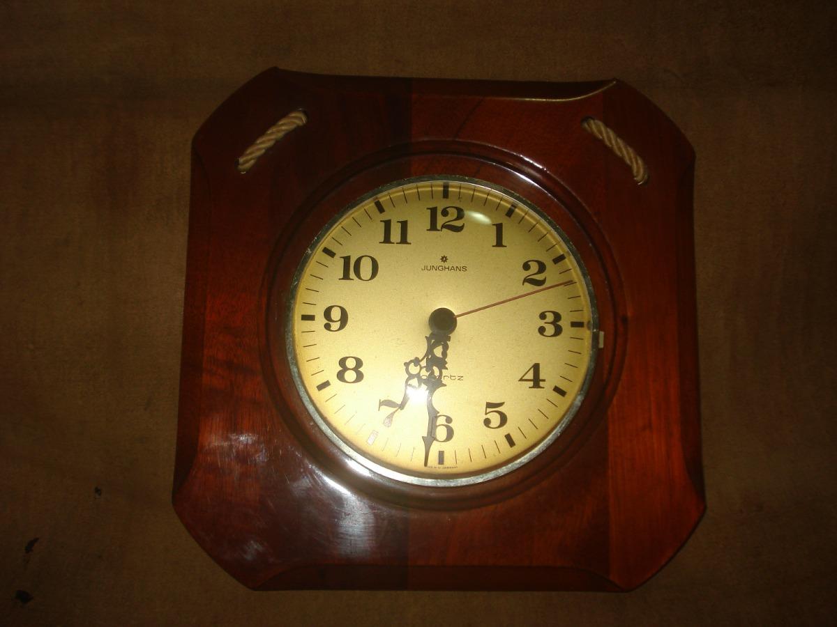 Vint Retro Reloj Antiguo De Madera Junghans Alemania