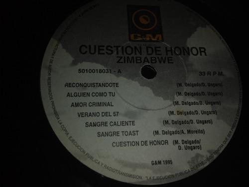 vinyl disco lp acetato zimbabwe cuestion de honor reggue1993