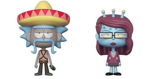 vinyl funko rick + unity rick and morty original replay