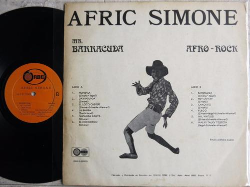 vinyl vinilo lp acetato afric simone barracuda  tropical