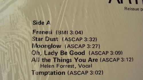 vinyl vinilo lp acetato ahie shaw  jazz