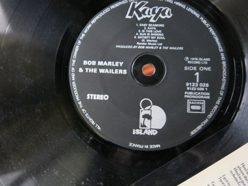 vinyl vinilo lp acetato bob marley kayo made france