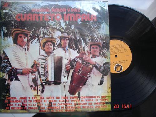 vinyl vinilo lp acetato cuarteto impala alegria amor y paz