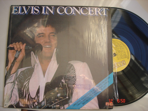 vinyl vinilo lp acetato elvis presley  in concert  2lp rock