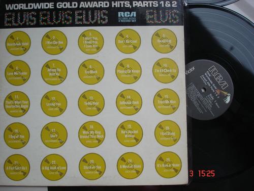 vinyl vinilo lp acetato  elvis presley worldwide gold awards