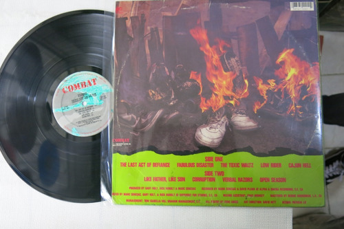 vinyl vinilo lp acetato exodus fabulous disaster rock