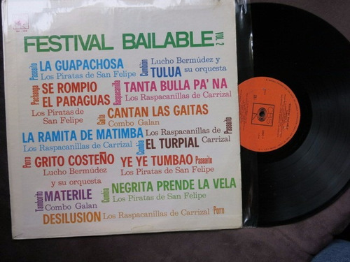 vinyl vinilo lp acetato festival bailable vol 2 cumbia tro