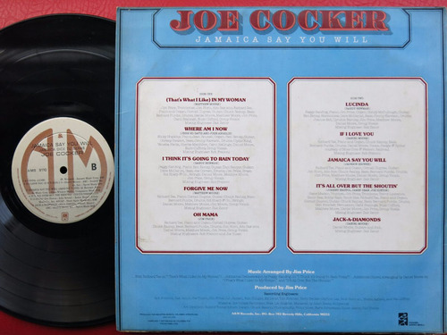 vinyl vinilo lp acetato joe cocker jamaica say you will rock