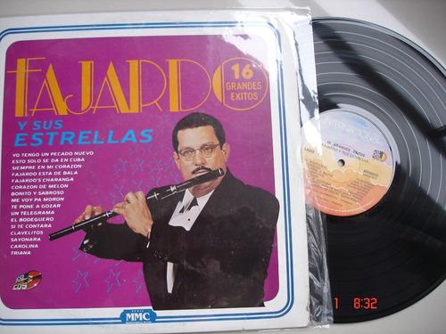 vinyl vinilo lp acetato jose fajardo y sus estrellas