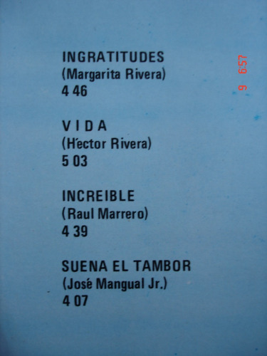 vinyl vinilo lp acetato jose mangual jr y su orquesta salsa