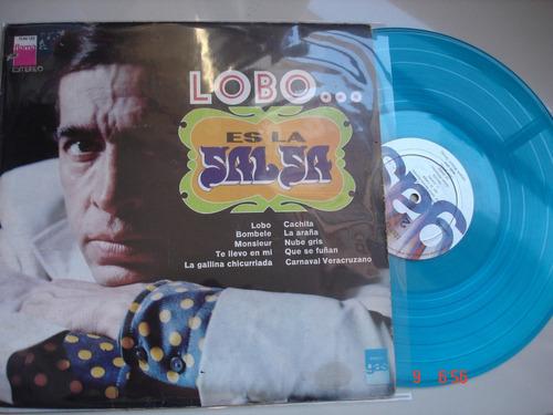 vinyl vinilo lp acetato lobo es salsa color azul disc blue