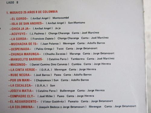 vinyl vinilo lp acetato los ocho de colombia salsa tropical