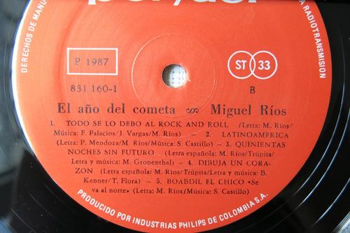 vinyl vinilo lp acetato miguel rios el año del cometa rock
