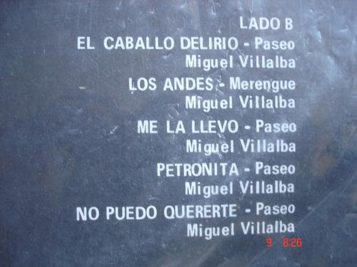 vinyl vinilo lp acetato miguel villalba y su conjunto bella