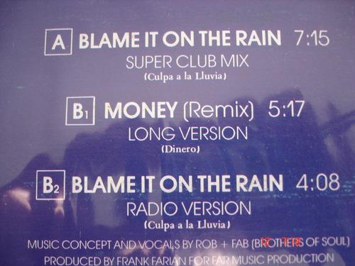 vinyl vinilo lp acetato milli vanilli blame it on the rain