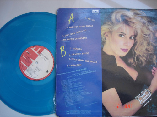 vinyl vinilo lp acetato natusha remix color azul blue