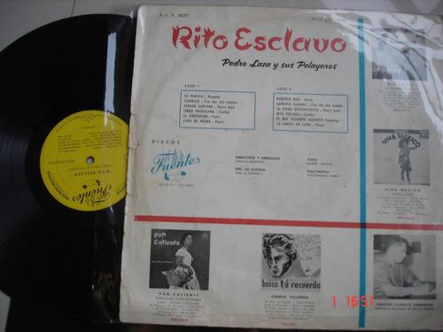 vinyl vinilo lp acetato pedro laza y sus playeros rito escla