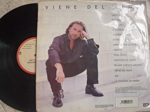 vinyl vinilo lp acetato ricardo montaner viene del alma
