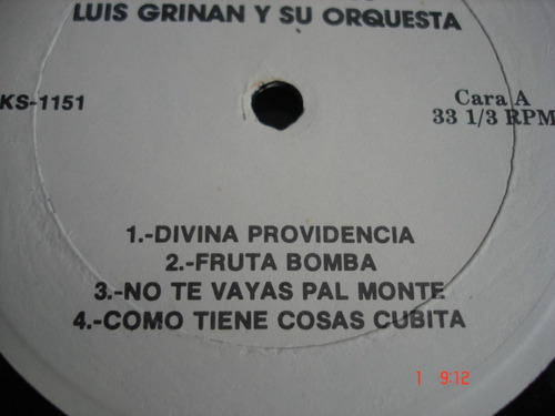 vinyl vinilo lp acetato ritos santeros luis grinan y orquest