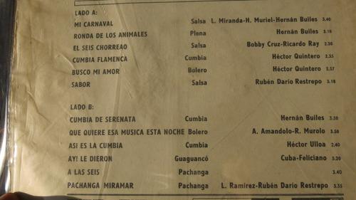 vinyl vinilo lp acetato sexteto miramar salsa cumbia