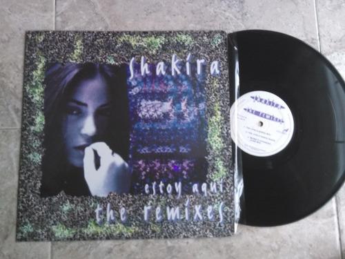 vinyl vinilo lp acetato shakira  estoy aqui remixes