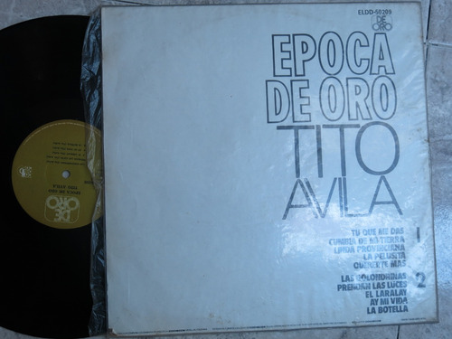 vinyl vinilo lp acetato tito avila cumbias tropical