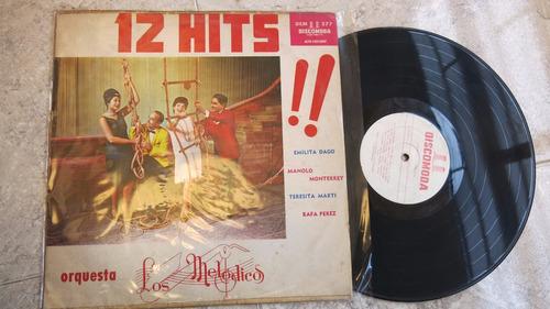 vinyl vinilo lps acetato los melodicos  tropical 12 hits