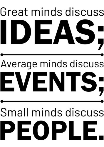 vinyl wall art decal  great minds discuss ideas average...