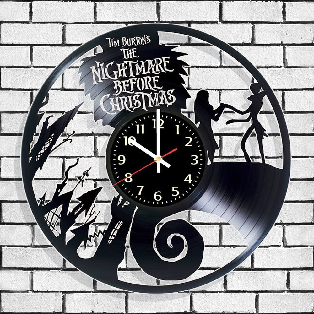 Vinyl Wall Clock Nightmare Before Christmas - $ 1,947.30 en Mercado ...