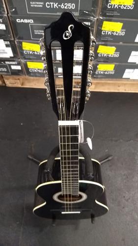 viola caipira acústica aço vs14 bk preta giannini 10 cordas