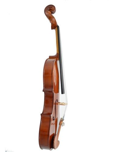 viola de arco eagle va150 4/4 rajado com case luxo