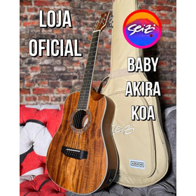 Violão Seizi Baby Akira Half Cutaway Koa Com Bag