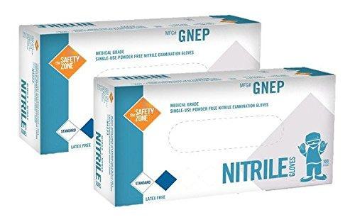 violet nitrile exam gloves - tamaño mediano - 200 unidades