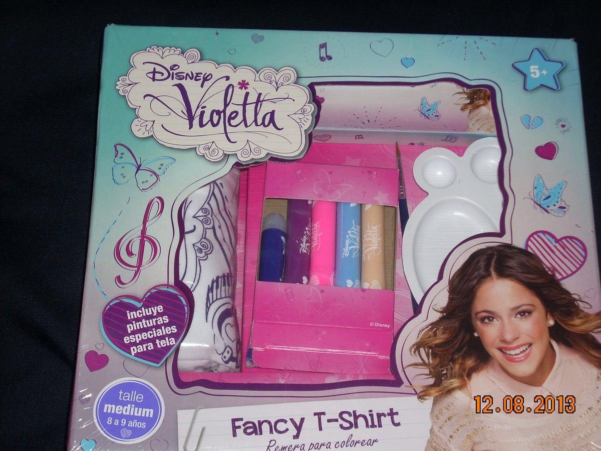Violetta De Disney Remera Exclusiva Fancyt Shirt Para Pintar