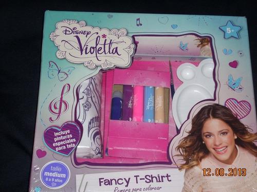 violetta de disney remera exclusiva fancyt-shirt para pintar