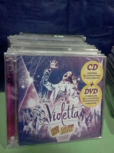 violetta en vivo  cd+dvd nuevo original sellado disney