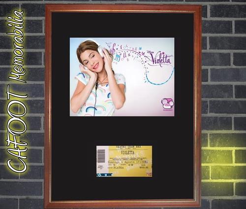 violetta foto promocional y entrada recital enmarcados