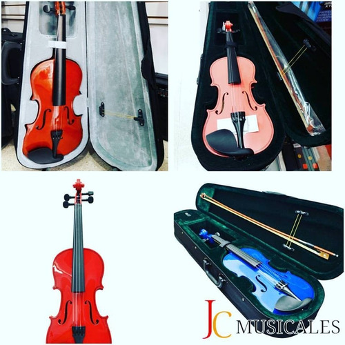violín  4/4, 3/4, 1/2, 1/4 nuevos con estuche y garantia