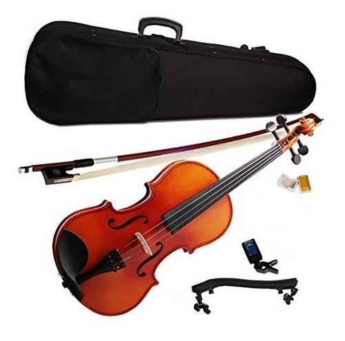 violín 4/4 cippriano estuche+arco+resina+soporte+afinador