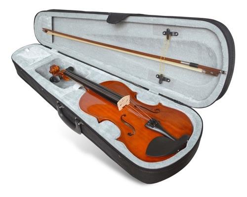 violín 4/4 color natural con estuche marca orich