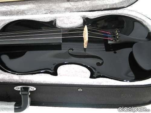 violín 4/4 color negro con estuche