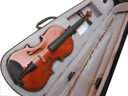 violín 4/4 méxico color natural con estuche remate!!