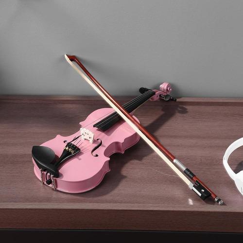 violín acústico brillante 1/8tamaño violín con estuche arco