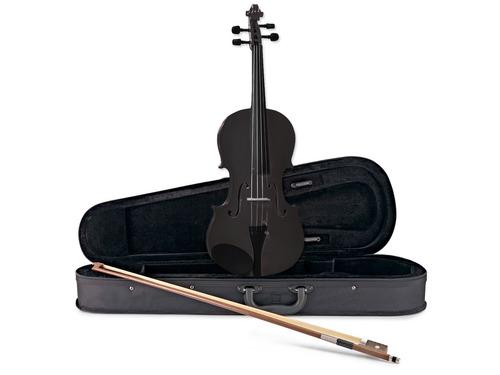 violin de madera 4/4 c/ estuche arco resina c/ microafinador