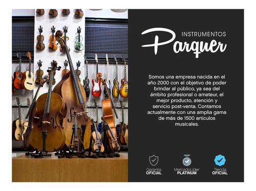 violin electroacústico parquer con estuche y arco